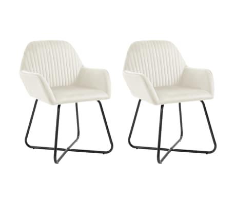 vidaXL Dining Chairs 2 pcs Ochre Velvet