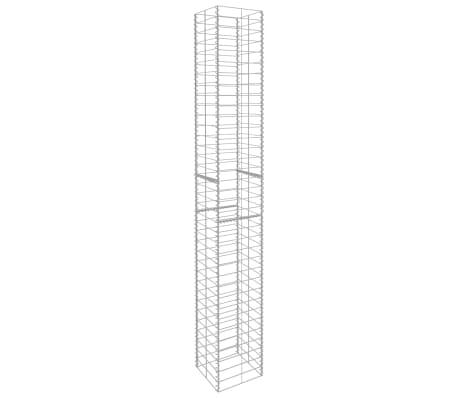 "vidaXL Gabion Baskets 3 pcs Galvanized Steel 9.8""x9.8""x77.6""[3/6]"