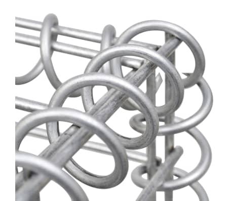 "vidaXL Gabion Baskets 3 pcs Galvanized Steel 9.8""x9.8""x77.6""[5/6]"