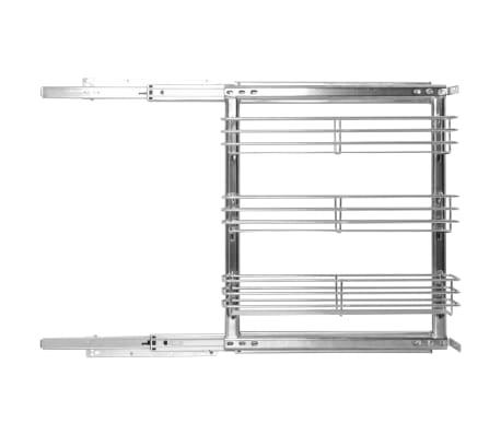vidaXL Ištraukiamas vielinis virtuvės krepšys, 47x15x56cm, 3 lentynos[3/10]