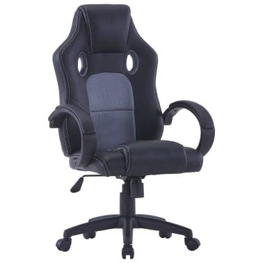 vidaXL Gamingstoel kunstleer grijs[1/8]