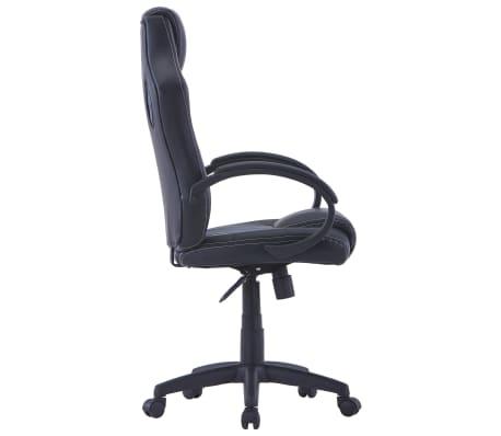 vidaXL Gamingstoel kunstleer grijs[3/8]