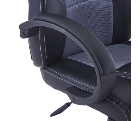 vidaXL Gamingstoel kunstleer grijs[6/8]