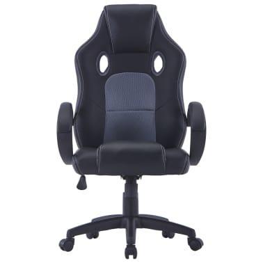 vidaXL Gamingstoel kunstleer grijs[2/8]