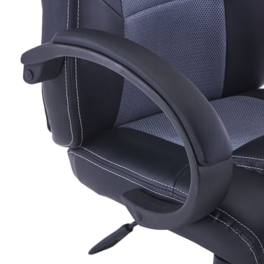 vidaXL Fotel dla gracza, szary, sztuczna skóra[6/8]