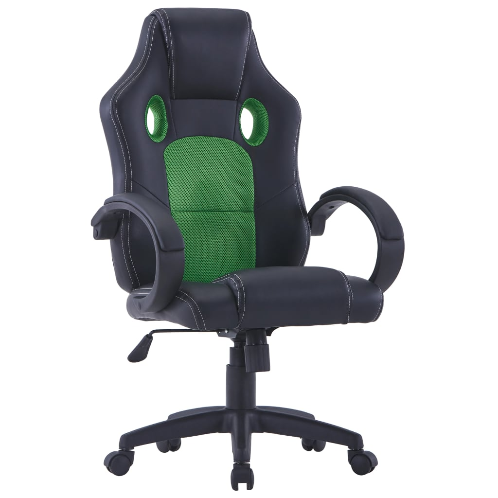 vidaXL Sedia da Gaming Verde in Similpelle