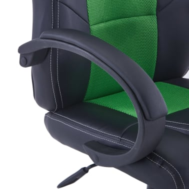 vidaXL Gamingstoel kunstleer groen[6/8]