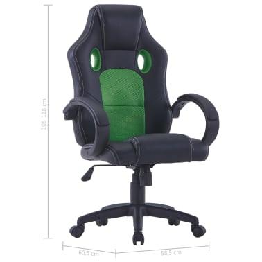 vidaXL Gamingstoel kunstleer groen[8/8]
