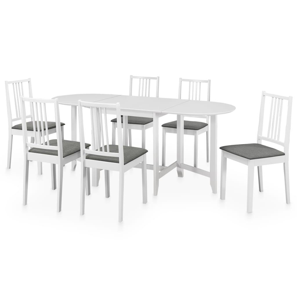 vidaXL Set mobilier de bucătărie, 7 piese, alb, MDF poza vidaxl.ro