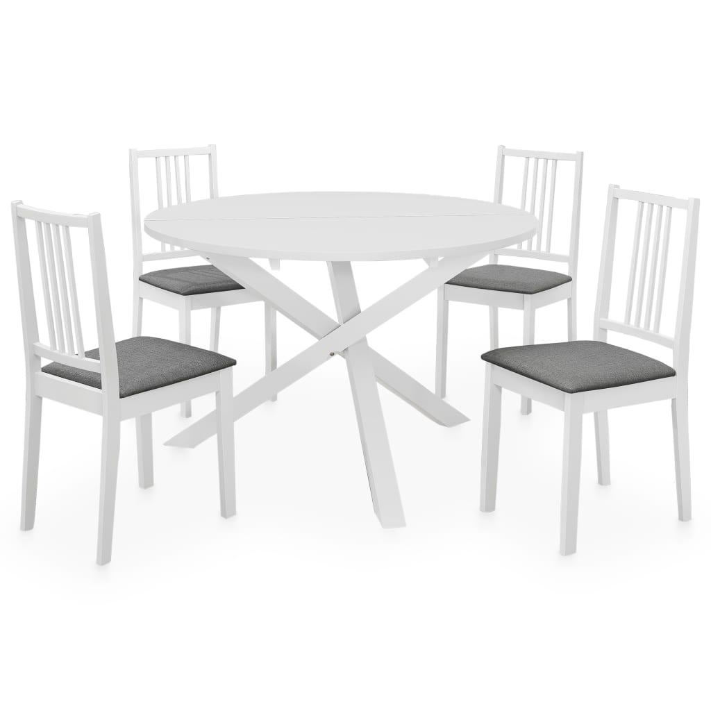 vidaXL Set mobilier de bucătărie, 5 piese, alb, MDF vidaxl.ro