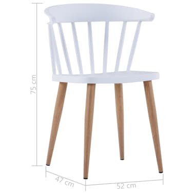 Sedie Bianche E Acciaio.Vidaxl Sedie Da Pranzo 6 Pz Bianche In Plastica E Acciaio
