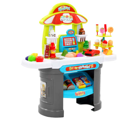 vidaXL Set de joacă cu magazin pentru copii, 51 piese, 68x25x67,5 cm