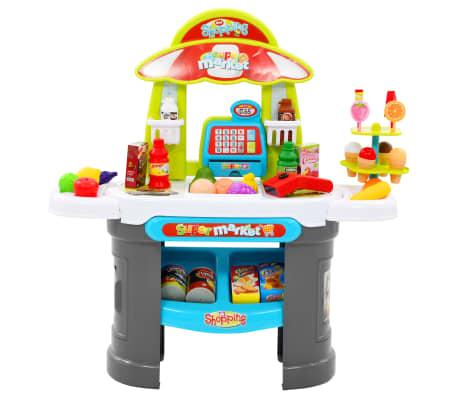 vidaXL Tienda de juguete para niños 51 piezas 68x25x67,5 cm[2/7]