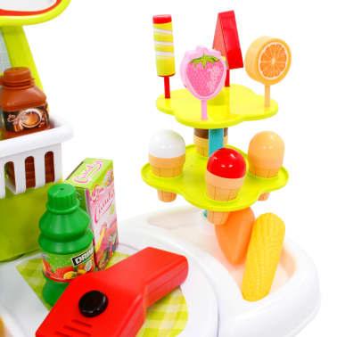 vidaXL Tienda de juguete para niños 51 piezas 68x25x67,5 cm[4/7]