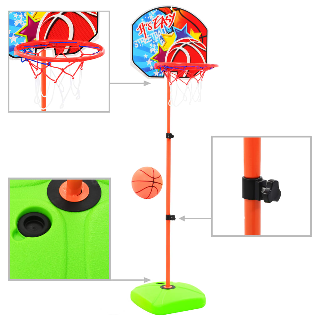 vidaXL Set cu minge și coș de baschet pentru copii poza 2021 vidaXL