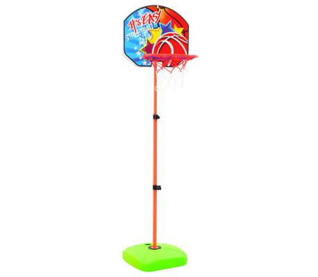 vidaXL Canasta de baloncesto y balón para niños[2/8]