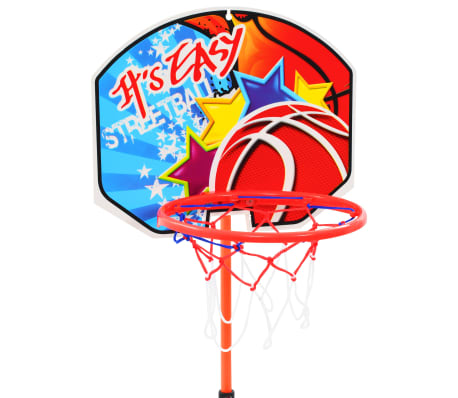 vidaXL Canasta de baloncesto y balón para niños[3/8]
