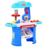 vidaXL 15 Piece Kids' Pretend Doctor Play Set 38x30x67.5 cm