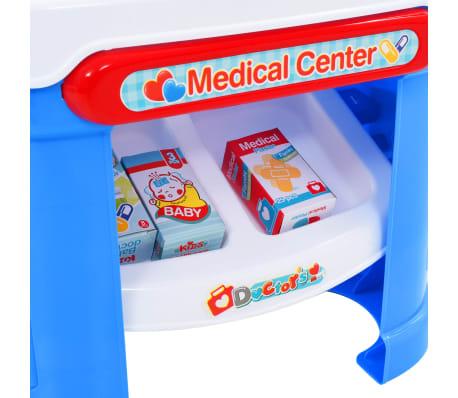 vidaXL Juego de ir al médico para niños 15 piezas 38x30x67,5 cm[4/8]