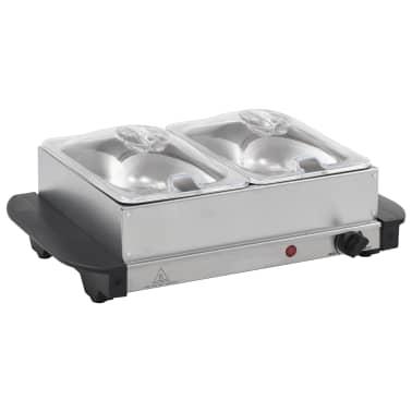 vidaXL Serveur buffet Acier inoxydable 200 W 2x1,5 L[2/5]
