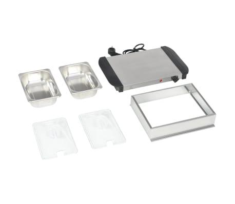 vidaXL Serveur buffet Acier inoxydable 200 W 2x1,5 L[4/5]