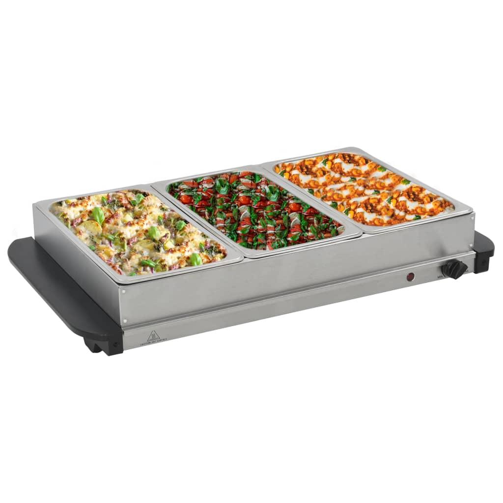 Bufetový ohřívač nerezová ocel 200 W 3 x 2,5 l