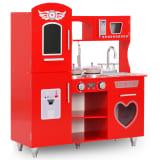 vidaXL Cuisine en jouet pour enfants MDF 84x31x89 cm Rouge