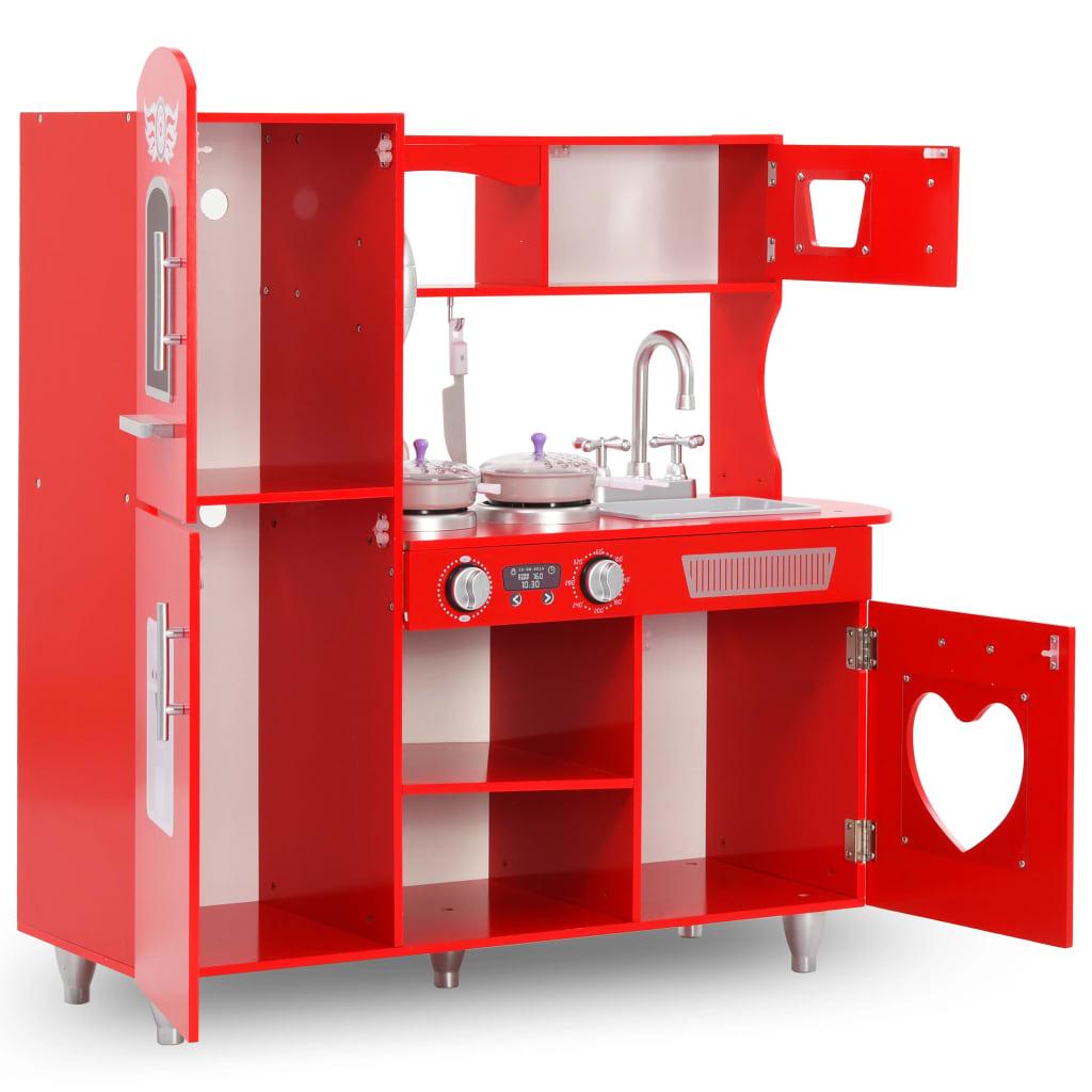 9980253 Kinderspielküche MDF 84 x 31 x 89 cm Rot