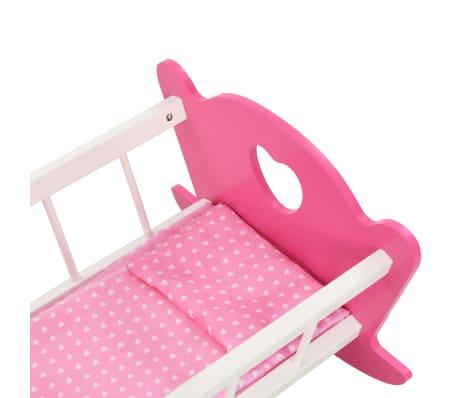 vidaXL Cama de juguete para muñecas con dosel de MDF rosa 50x34x60 cm[6/9]