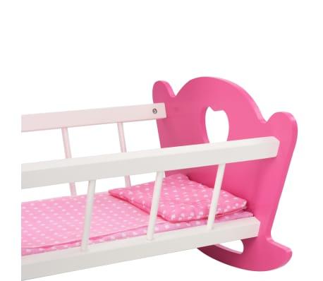 vidaXL Cama de juguete para muñecas con dosel de MDF rosa 50x34x60 cm[8/9]