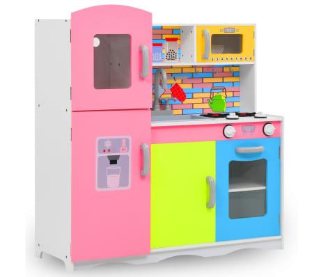 vidaXL Otroška kuhinja mediapan 80x30x85 cm večbarvna