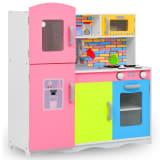 vidaXL Cuisine en jouet pour enfants MDF 80x30x85 cm Multicolore