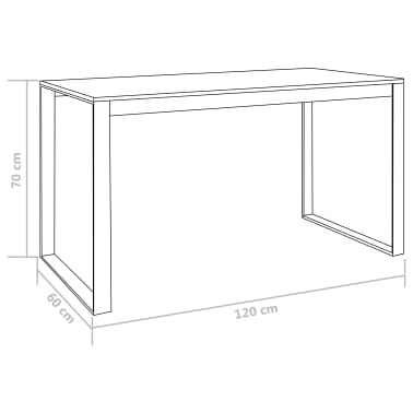 "vidaXL Computer Desk Black 47.2""x23.6""x28.7""[7/7]"