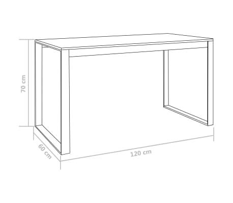 "vidaXL Computer Desk White and Oak 47.2""x23.6""x28.7""[7/7]"