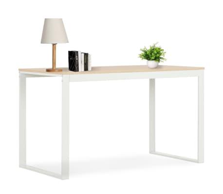 "vidaXL Computer Desk White and Oak 47.2""x23.6""x28.7""[1/7]"