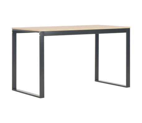 "vidaXL Computer Desk Black and Oak 47.2""x23.6""x28.7""[2/7]"