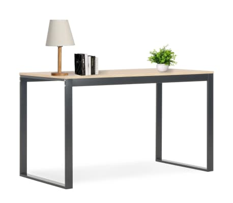 "vidaXL Computer Desk Black and Oak 47.2""x23.6""x28.7""[1/7]"