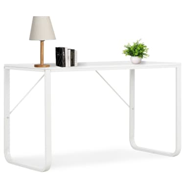 "vidaXL Computer Desk White 47.2""x23.6""x28.7""[1/8]"