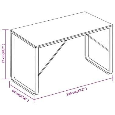 "vidaXL Computer Desk White and Oak 47.2""x23.6""x28.7""[8/8]"