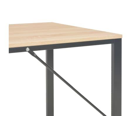 """vidaXL Computer Desk Black and Oak 47.2""""x23.6""""x28.7""""[6/8]"""