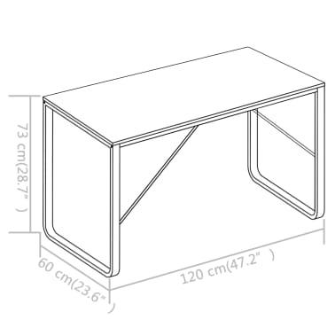 """vidaXL Computer Desk Black and Oak 47.2""""x23.6""""x28.7""""[8/8]"""
