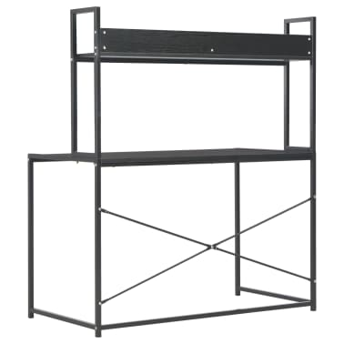 "vidaXL Computer Desk Black 47.2""x23.6""x54.3""[4/9]"