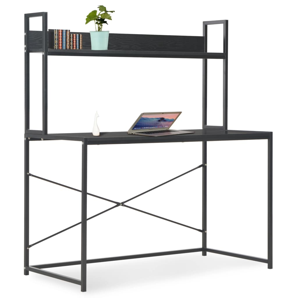 vidaXL PC stůl černý 120 x 60 x 138 cm