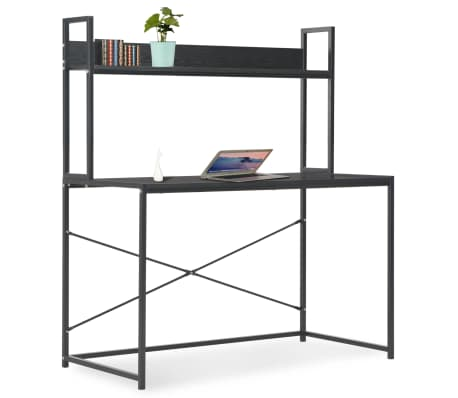 "vidaXL Computer Desk Black 47.2""x23.6""x54.3""[1/9]"