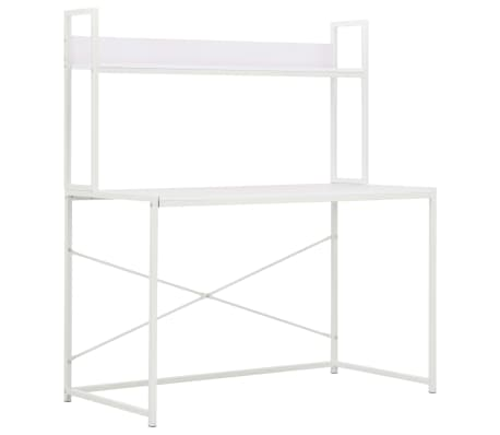 vidaXL PC stůl bílý 120 x 60 x 138 cm