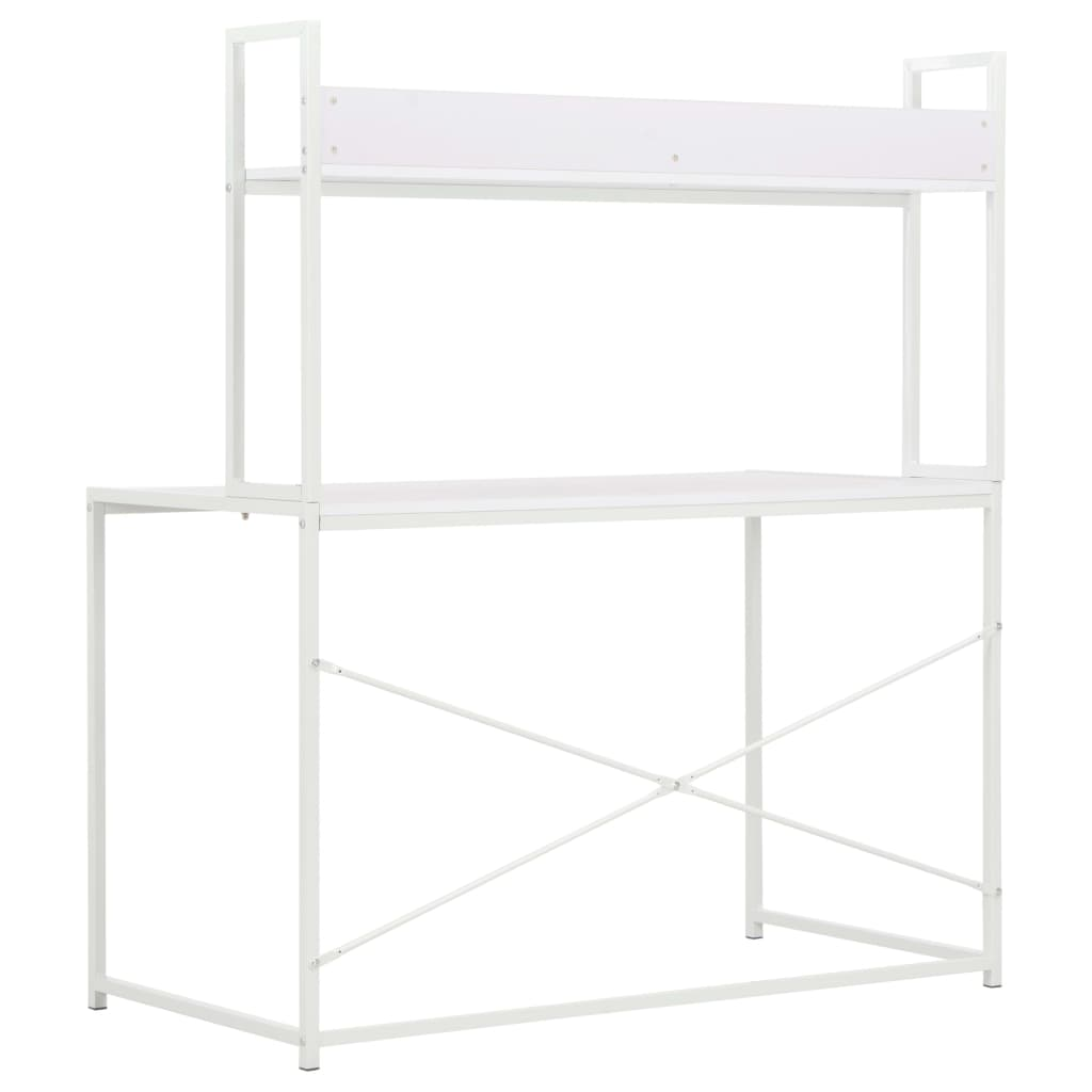 PC stůl bílý 120 x 60 x 138 cm
