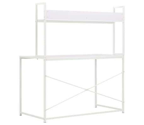 vidaXL Bureau d'ordinateur Blanc 120 x 60 x 138 cm[4/9]