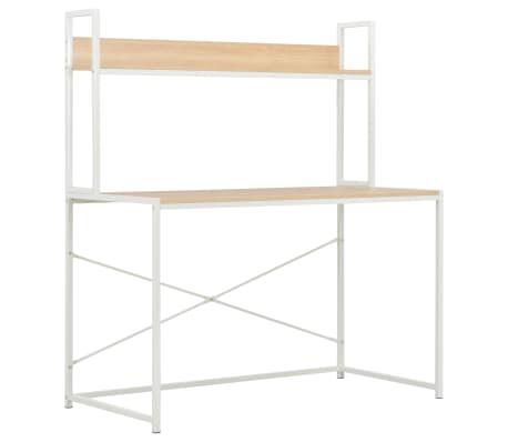 "vidaXL Computer Desk White and Oak 47.2""x23.6""x54.3"""