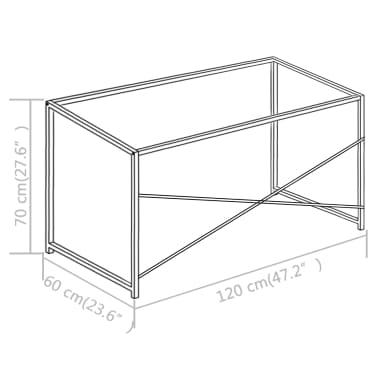 "vidaXL Computer Desk Black 47.2""x23.6""x27.6""[8/8]"