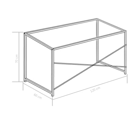 "vidaXL Computer Desk White 47.2""x23.6""x27.6""[8/8]"
